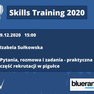 Skills Training 2020 – rekrutacja w pigułce